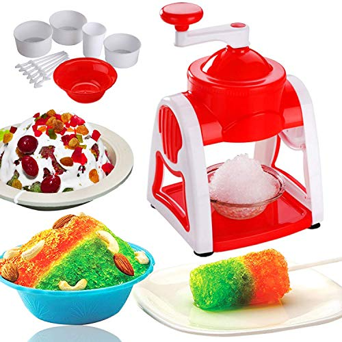 Gurukrupa™ Home Ice Gola Slush Maker Ice Snow Maker Machine with (Multicolor)