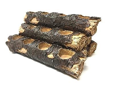 USAWAREHOUSE Tealight Fireplace Log Candle Holder (12 Inches Wide), Fireplace Candle Holder (Rustic)