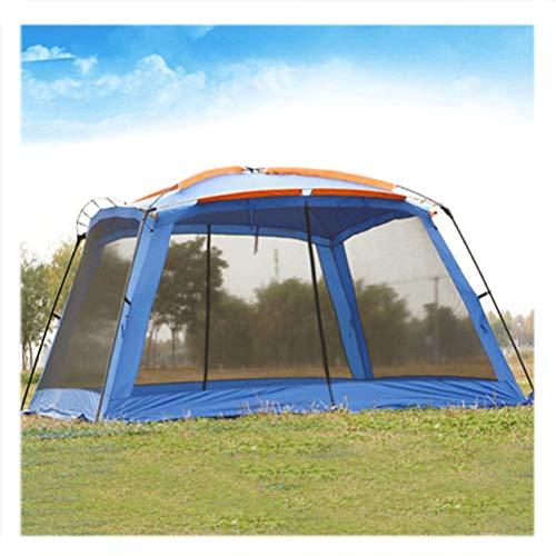 Goushi Ultralarge 365 * 365 * 220 CM con Mosquitera Tienda De Campaña Gazebo Grande Refugio Solar Tienda De Playa Tienda De Barbacoa Tienda De Campaña (Color : Blue)
