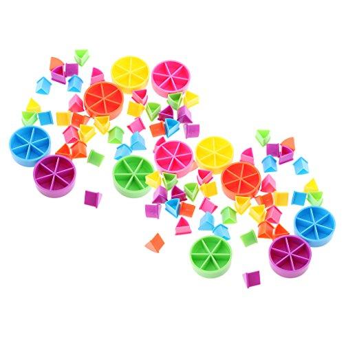 sharprepublic Pack / 84pcs Trivial Pursuit Game Pieces Pie Wedges Piezas para Fracciones