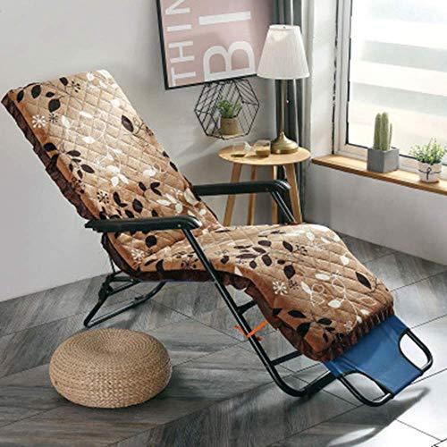 Indoor Outdoor Lounge Stuhl Kissen, Lounge Chaise Kissen Patio Recliner Stuhl Kissen für Garten Sofa Bank (nur Kissen) Braun C 52150cm (2059inch)