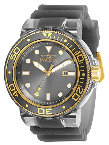Invicta Men's Pro Diver Stainless Steel Quartz Watch with Silicone Strap, Grey, 29.8 (Model: 32335)