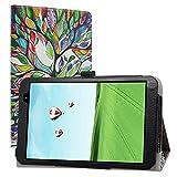 LiuShan Compatible con TECLAST P80h Funda, Folio Soporte PU Cuero con Funda Caso para 8' TECLAST P80h 8 Inch Tablet (No es Compatible con TECLAST P80X / P80 Pro),Love Tree