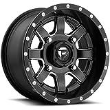Fuel UTV D538 Maverick ATV/UTV 14x7 4x156 +38mm Black/Milled Wheel Rim 14' Inch
