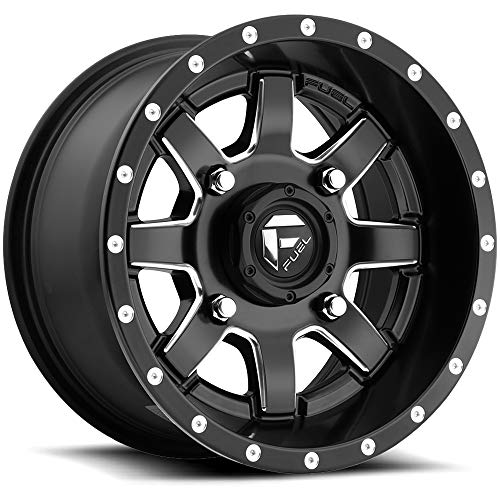 "Fuel UTV D538 Maverick ATV/UTV 14x7 4x156 +38mm Black/Milled Wheel Rim 14"" Inch"
