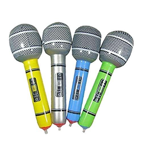 YZLSM One Pack Microfono gonfiabile Blow Up microfono per il canto Party Time discoteca della roccia del giocattolo del partito di precisione gonfiabile microfono