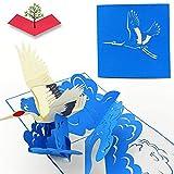 PopLife Cards 3d grúa de aves pop-up tarjeta de felicitación - todas las ocasiones