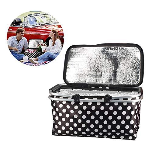 lembrd Koeltas, picknicktas, 30 liter, inklapbaar, thermotas, lunchtas voor kantoor, grillfeesten, camping, beach, auto, outdoor reizen