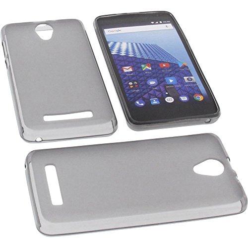 foto-kontor Tasche für Archos Access 50 Color 3G Gummi TPU Schutz Handytasche grau