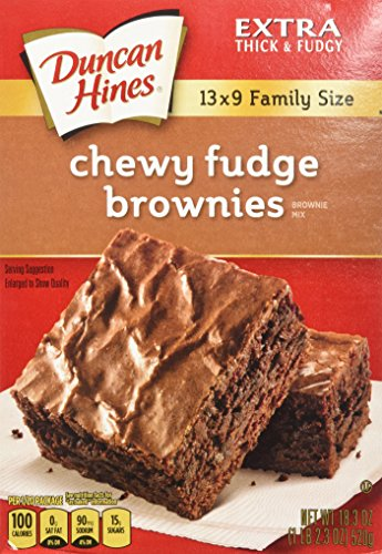 Duncan Hines Chewy Fudge Brownies 183oz Family Size  2 Boxes