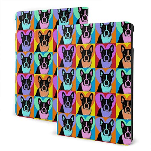 Funda Personalizada para iPad Boston Terrier Pop Art Soporte de múltiples ángulos Magnético Auto Sleep Wake up iPad Funda Protectora para iPad 7th 10.2 Pulgadas