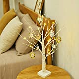 Spring Decor and Gift,Vanthylit 2FT Pre-lit Birch Tree Light Battery Powered Tabletop Tree with 24LT Warm White Lights for Home Easter Decoration(inluede 8pcs Cards) pre lit christmas trees Jan, 2021