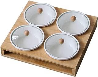 Tama/ño : 30*22CM 22 CM KJinZ Plato de pasta para hoteles Plato rectangular de cer/ámica Plato de desayuno escolar Plato de carne de bistec Ensalada Plato de pan Bandeja de la sala de estar 30