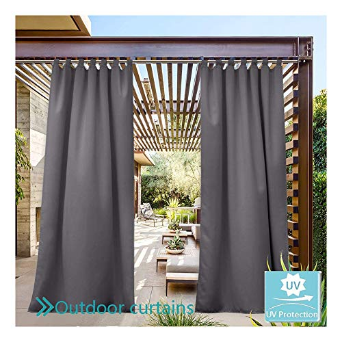 GDMING Indoor Outdoor Curtain For Patio Waterproof Sun Protection Awning Privacy Cut Off Screen For Porch Gazebo Pergola Cabana Deck 2 Panel Windshield, 32 Sizes (Color : Dark Gray, Size : 1.4x3m)