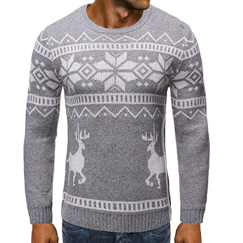 Suéter Estampado de Bloqueo de Color con Cuello Redondo para Hombre, Ajustado, de Manga Larga, Moda, Streetwear, Todo fósforo, suéter Regular XL
