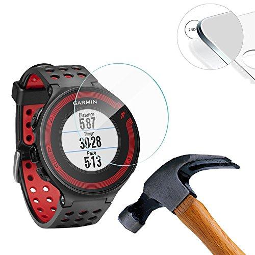 Lusee 2 X Pack Protezione Schermo Vetro temperato per Garmin Forerunner 620/630 / 225/235 Pellicola Vetro Protettivo Salvaschermo e Film Protettiva Ultra-Duro Vetro 9H