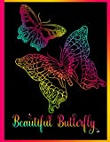 Stress Relief Butterfly Coloring Book For Adults: Color With All...