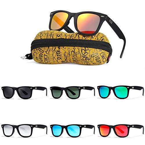 MXBIN KD2140F Gafas de Sol polarizadas UV400 Cuadrado Retro Deportes al Aire...