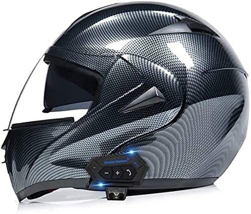 Cascos Integrales Bluetooth para Motocicleta,Casco Abierto Abatible para Motocicleta,para Hombres Y Mujeres,Scooter Bicicleta Calle Aprobado Dot/ECE(Color:4;Size:XL)