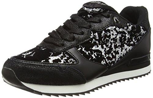Replay Damen Alime Sneakers, Schwarz (Silver Black 51), 39