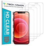 Tech Armor HD Clear Plastic Film Screen Protector (NOT Glass) for Apple New iPhone 12 mini (5.4') - Case-Friendly, Scratch Resistant, Haptic Touch Accurate [4-Pack]