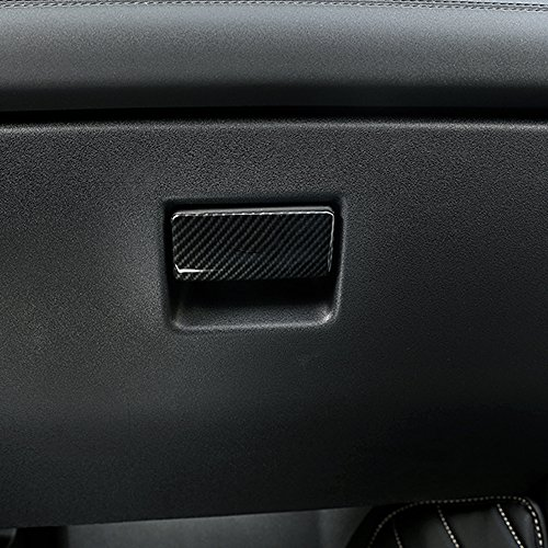 Pour Discovery Sport 2015–2017 Car-styling en fibre de carbone Style Plastique ABS Gant de voiture Boîte de rangement Cover Trim