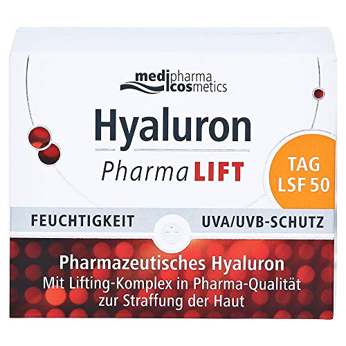 Medipharma Cosmetics Hyaluron Pharmalift Tag Creme Lsf 50, 100 G