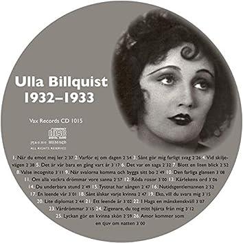 Den Kompletta Ulla Billquist 1932-1933