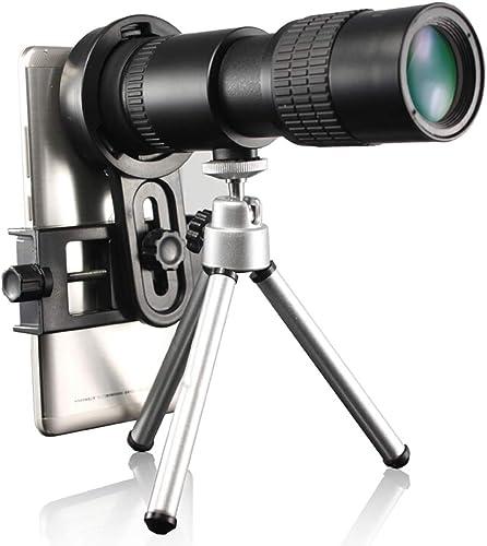 JU FU Monoculaire télescopique 10-30 × 30 Zoom Haute définition téléphone Portable caméra Voyage en Plein air Portable + trépied + Clip de téléphone
