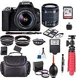 EOS 250D / Rebel SL3 Kit with EF-S 18-55mm f/3.5-5.6 III Lens + Accessory Bundle + Model Electronics Cloth…
