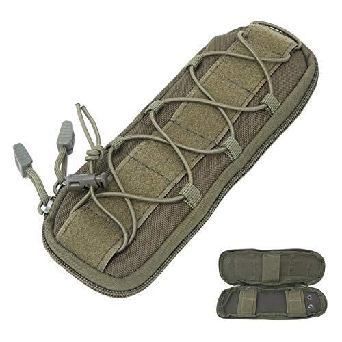 Omabeta Bolsa para cuchillos al aire libre, resistente, ligera, portátil, sólida, para actividades al aire libre, mochileros, viajes (tubo verde)