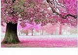 TJJL Puzzle 1000 Piezas DIY Cherry Pink Set Memory Art Adulto Puzzle DIY Set Juguete de Madera Decoración del hogar
