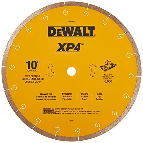 DEWALT Diamond Blade for Tile, Wet Cutting, 10-Inch x .060-Inch (DW4764)