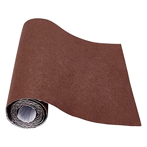 Benecreat - Forro de fieltro autoadhesivo, 40 cm x 2 m, color marrón oscuro para la fabricación de disfraces y la caja de cajón para joyas, bastón de tela, 1 mm de grosor