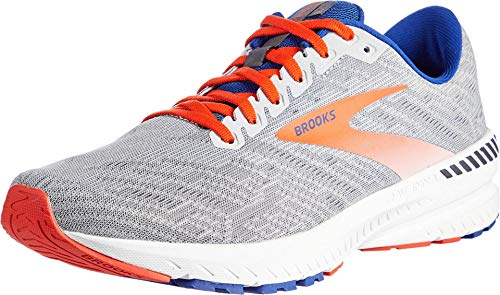 Brooks Herren Ravenna 11 Running Shoe, Grey/Cherry/Mazarine, 42.5 EU