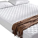Cheer Collection King Size Quilted <span class='highlight'>Mattress</span> Pad and <span class='highlight'>Protector</span> Fitted Up to <span class='highlight'>18</span>