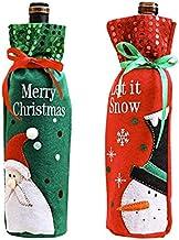 2 Pack Christmas Season Wine Bottle Cover, Holiday Wine Bottle Coat, Christmas Table Decoration for Christmas Party Dinner...