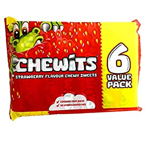 6 packs of chewits strawberry flavour chewy sweets 6 Packs of CHEWITS Strawberry Flavour Chewy Sweets 51sYiPKntqL