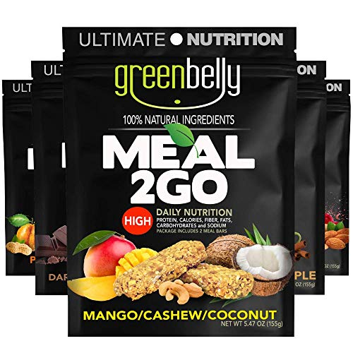 Greenbelly Backpacking Meals - Backpacking Food, Appalachian Trail Food Bars, Ultralight, Non-Cook, High-Calorie, Gluten-Free, Ready-to-Eat, All Natural Meal Bars (Variety, 5 Count)