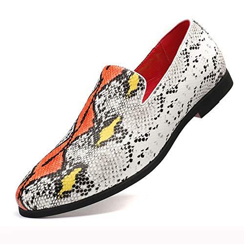 JRY Mocasines para Hombre - Zapatos Casuales Bajos Zapatos de Vestir Formales sin Cordones de Moda Zapatos de Fiesta de Boda Resistentes al Desgaste