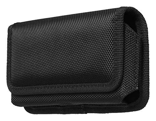 """AQ Mobile Funda Cinturón Horizontal para Móviles y Smartphones, Talla XL (para 6,5"""" Smartphone) Textil, Pinza de cinturón, Cierre magnético"""