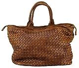 BOZANA Bag Naomi cognac Italy Designer Damen Handtasche Tasche Schafsleder Shopper Neu