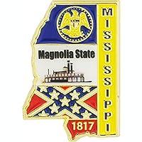 "USA STATES, MISSISSIPPI Map - Original Artwork, Expertly Designed PIN - 1"""