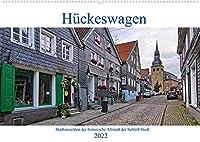 Stadtansichten Hueckeswagen (Wandkalender 2022 DIN A2 quer): Die historische Altstadt der Schloss-Stadt im Oberbergischen Kreis. (Monatskalender, 14 Seiten )