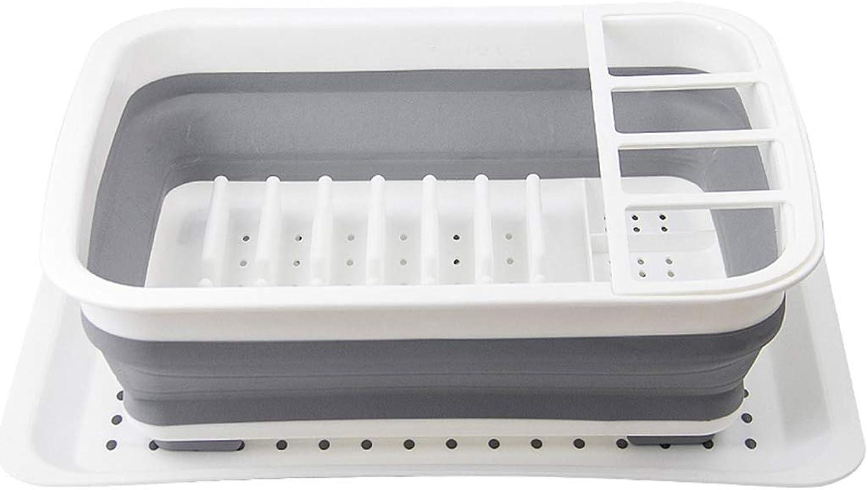 Kitchen Drain Rack, Foldable Dish Storage Rack, Partition Rack,drainboard Set