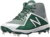 New Balance Men's M4040v4 Metal Baseball Shoe, Green/White, 16 2E US
