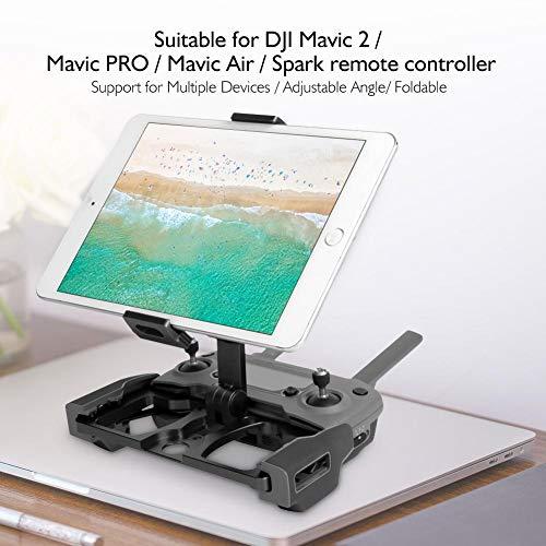 Dilwe Telefon-Tablet-Halter, Drone-Fernbedienung Telefon-Tablet-Halter Halterung für DJI Mavic 2 / Pro / Air / Funkenflug Drohne Quadcopter( Schwarz mit Halter für CrystalSky)