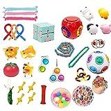 Fidget Toy Set, Pop it Fidget Toy Pack Barato, Juego de juguetes sensoriales Juego de herramientas para aliviar el estrés y antiestres Paquete de juguetes de terapia sensorial Cubo para niños Adultos