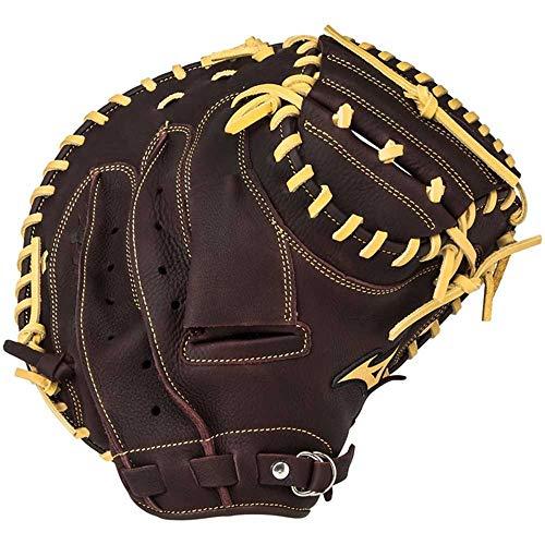 Shengjuanfeng Stick und Softball Handschuh Catcher Baseball Handschuh Right Throw (Tragen der linken Hand) 33,5 Zoll (Color : Brown)