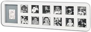 Porta Retrato My First Year Baby Art - White & Grey